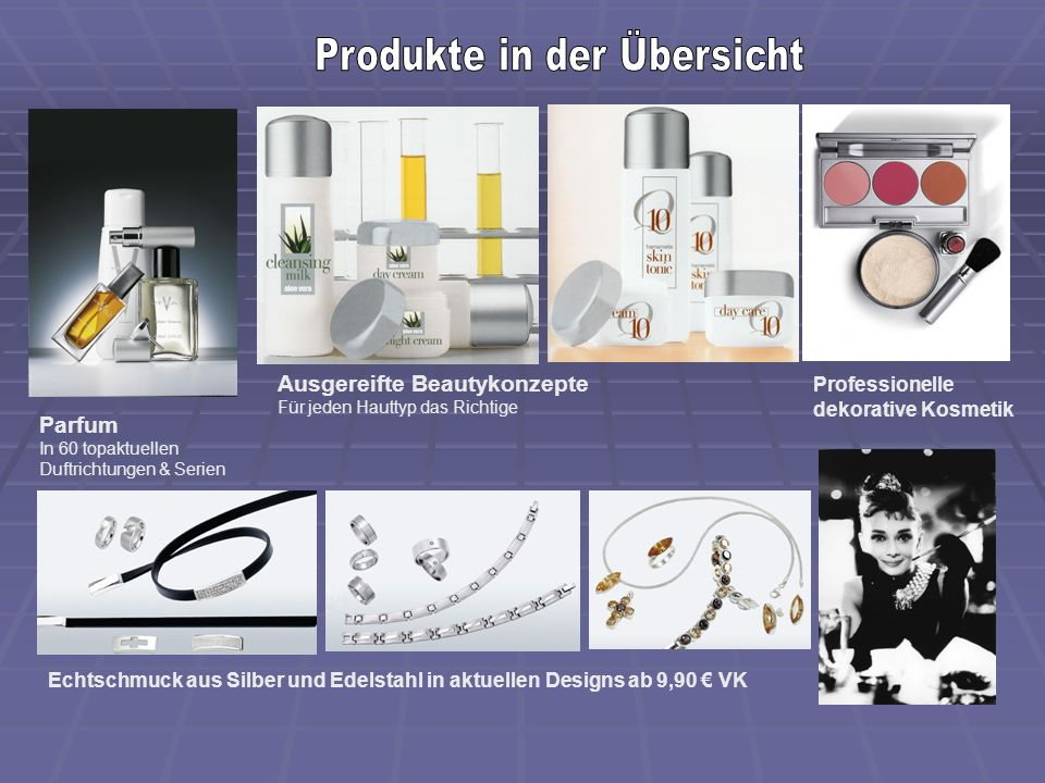 Produkte in der Übersicht