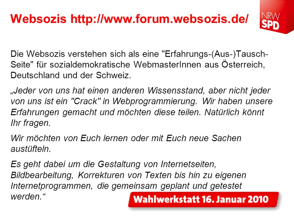 Websozis http://www.forum.websozis.de/