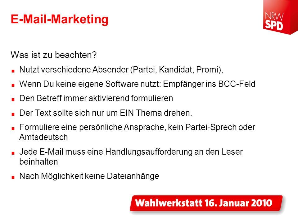 E-Mail-Marketing Was ist zu beachten