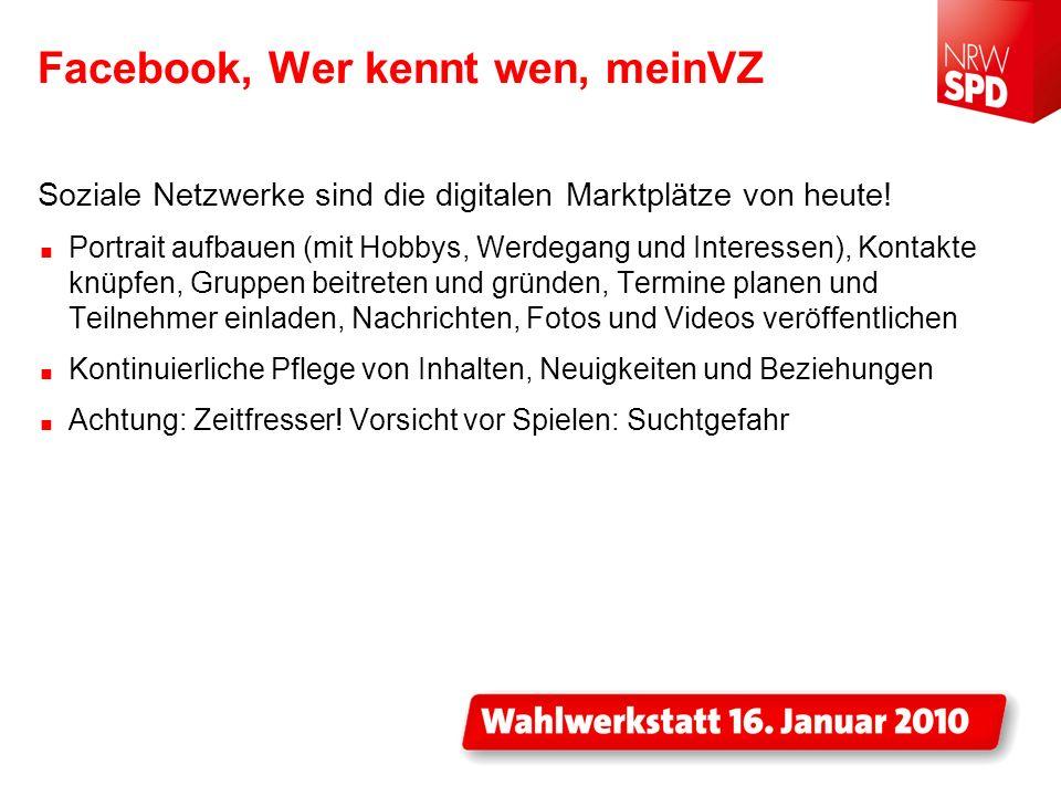 Facebook, Wer kennt wen, meinVZ