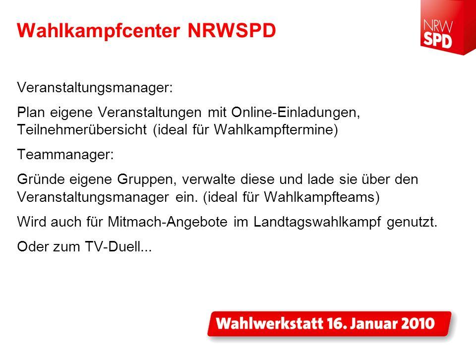 Wahlkampfcenter NRWSPD