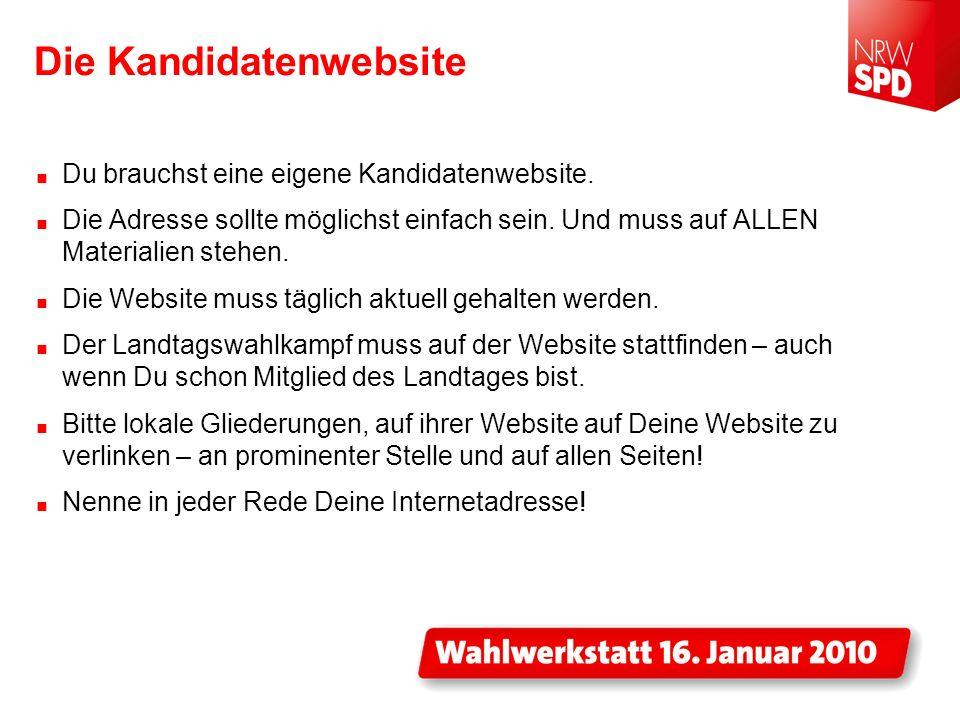 Die Kandidatenwebsite