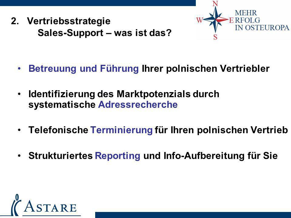 2. Vertriebsstrategie Sales-Support – was ist das