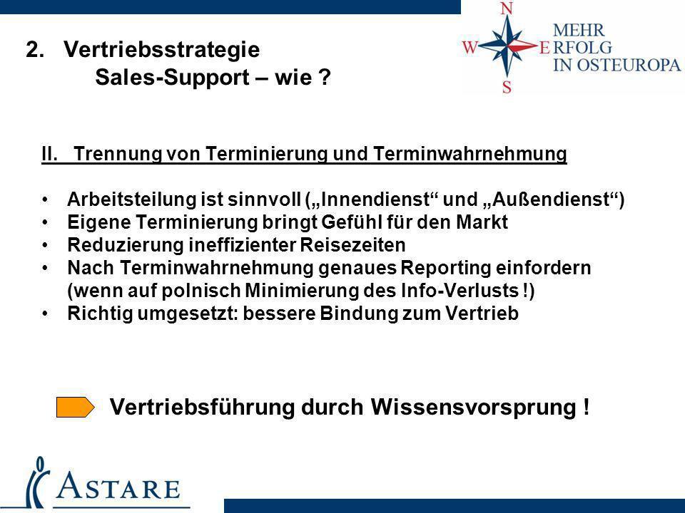 2. Vertriebsstrategie Sales-Support – wie