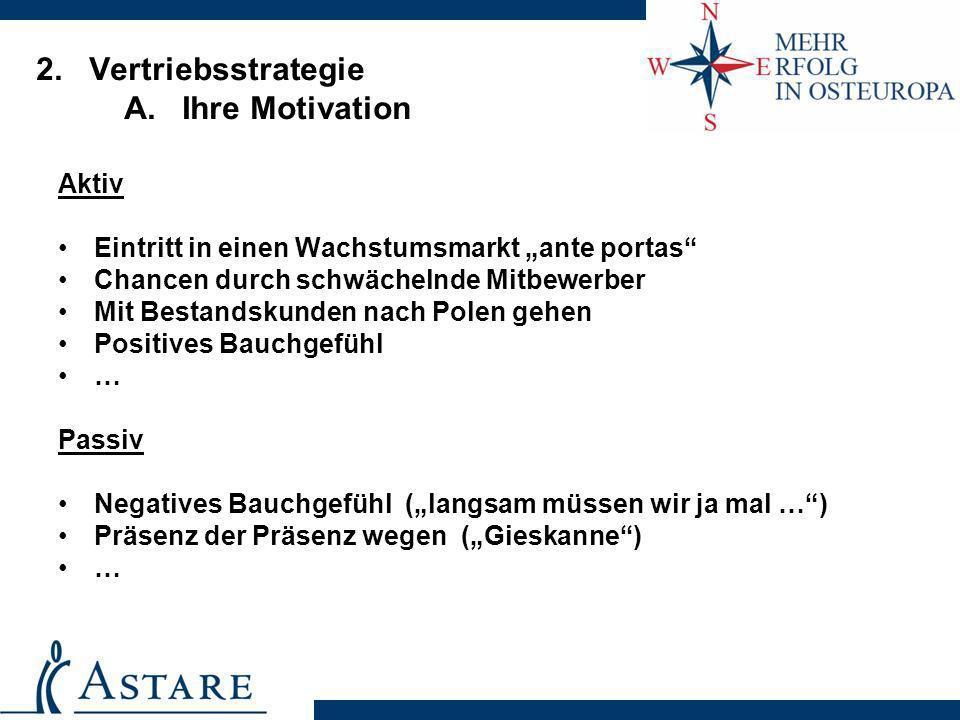2. Vertriebsstrategie A. Ihre Motivation