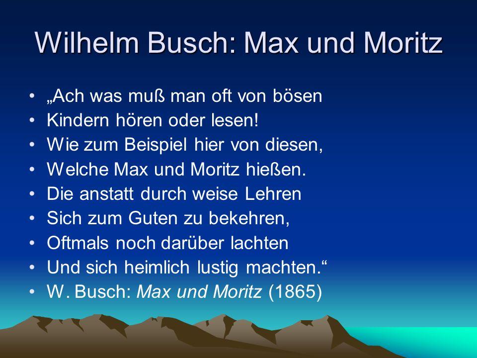 Wilhelm Busch: Max und Moritz
