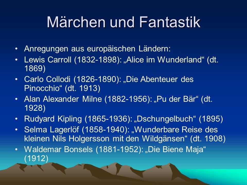 Märchen und Fantastik Anregungen aus europäischen Ländern:
