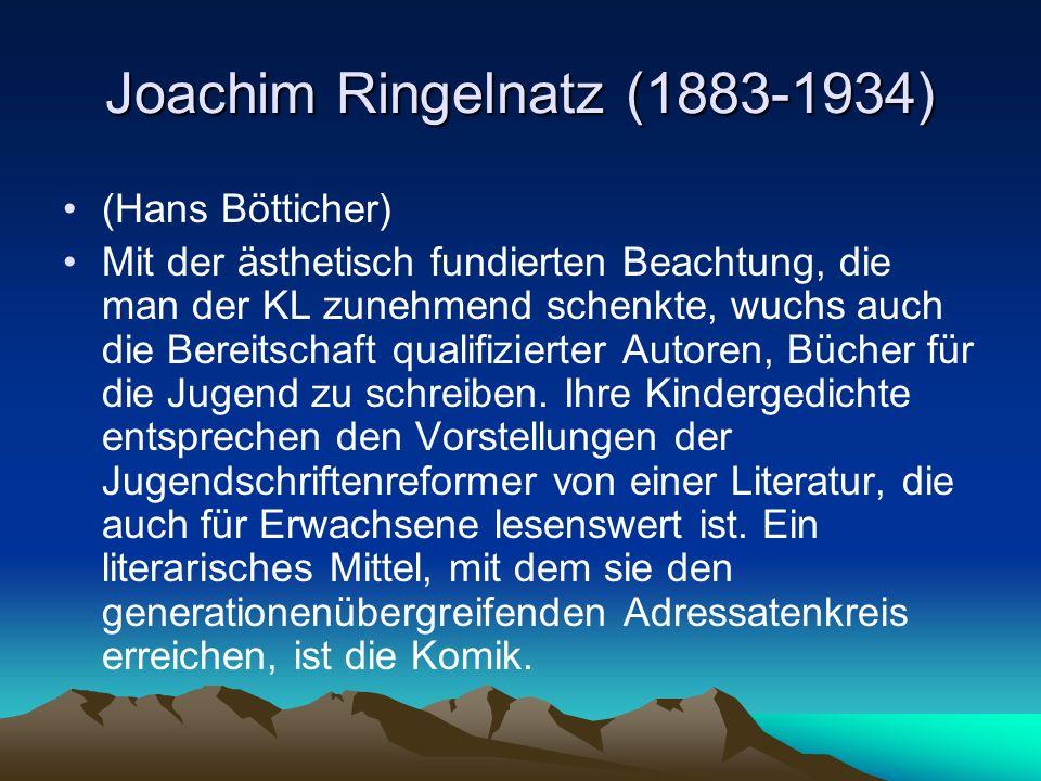 Joachim Ringelnatz (1883-1934)