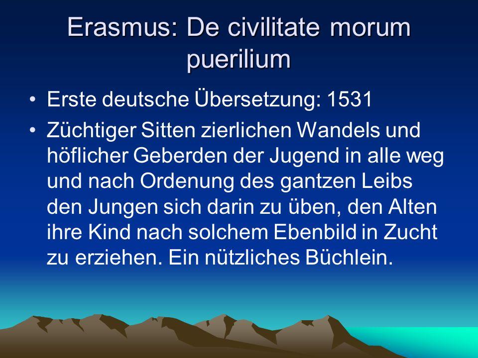 Erasmus: De civilitate morum puerilium