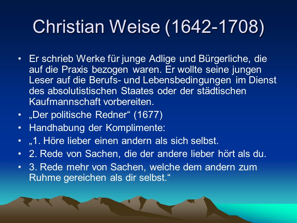 Christian Weise (1642-1708)