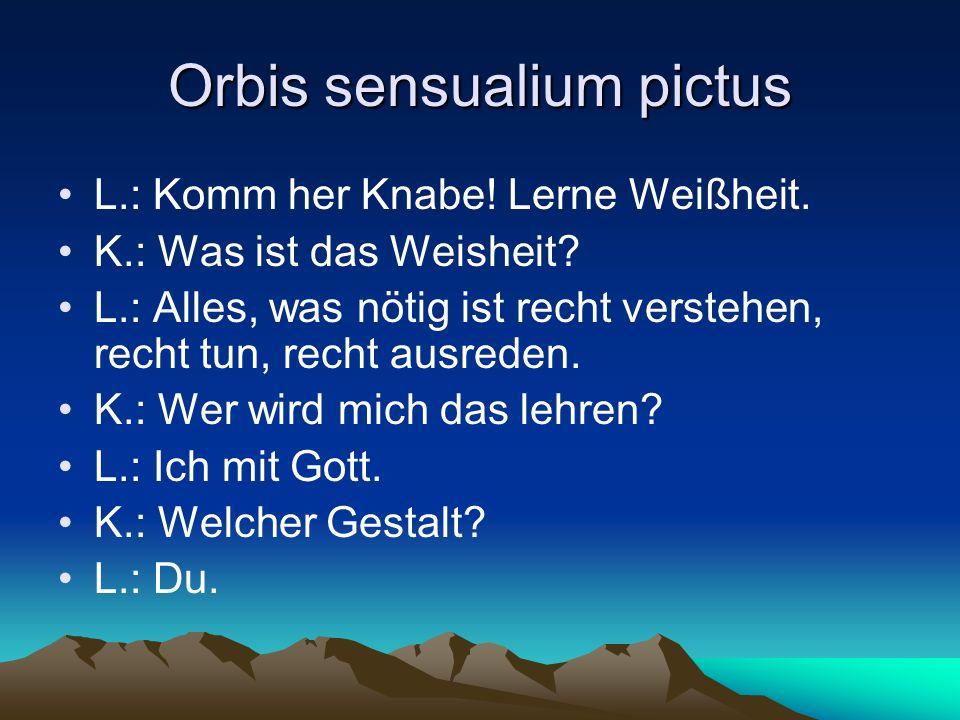 Orbis sensualium pictus