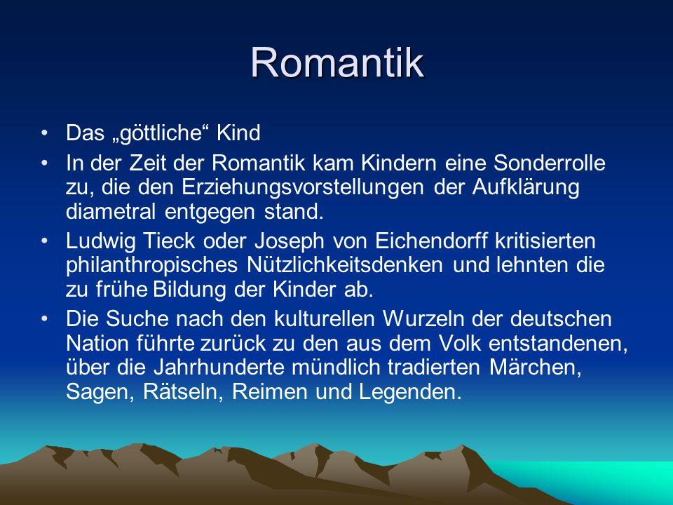 """Romantik Das """"göttliche Kind"""