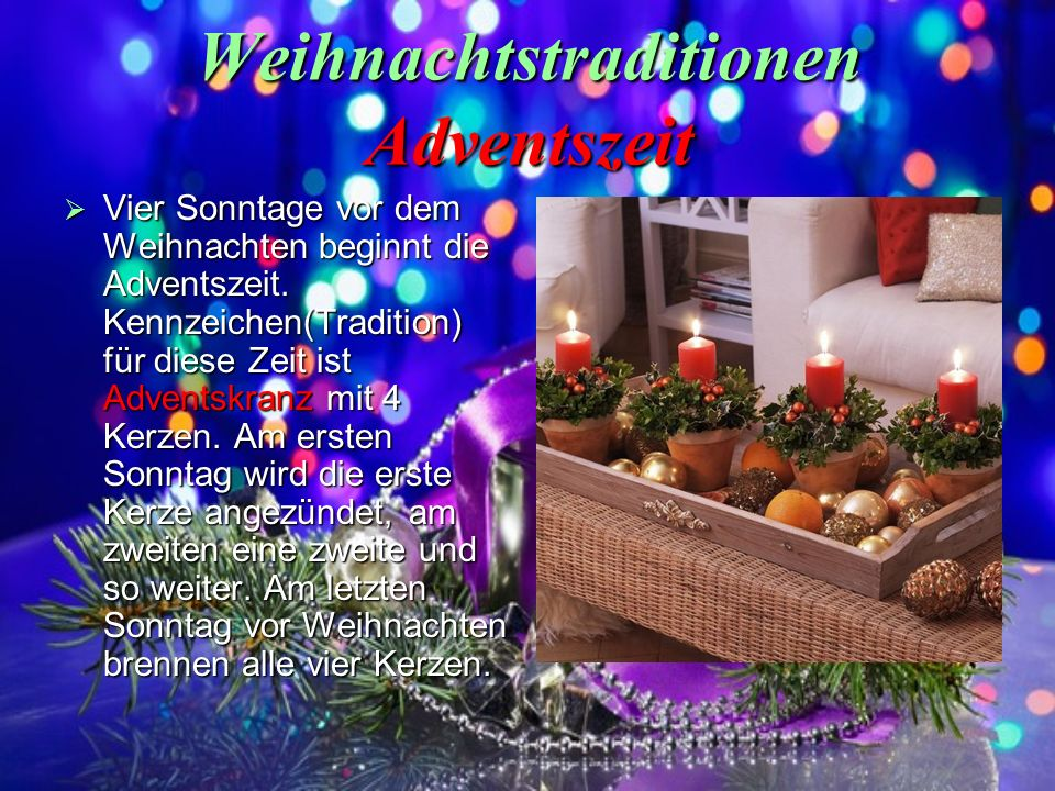 Weihnachtstraditionen Adventszeit