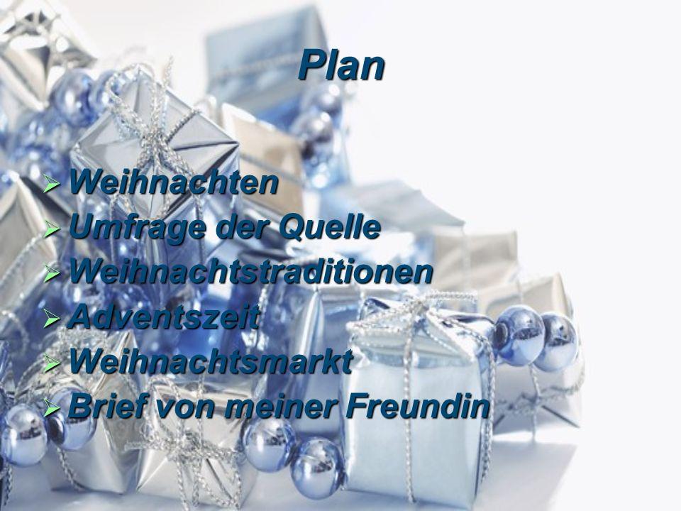 Plan Weihnachten Umfrage der Quelle Weihnachtstraditionen Adventszeit