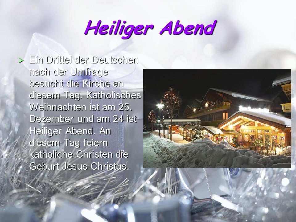 wie feiern weihnachten jugendliche in deutschland ppt. Black Bedroom Furniture Sets. Home Design Ideas