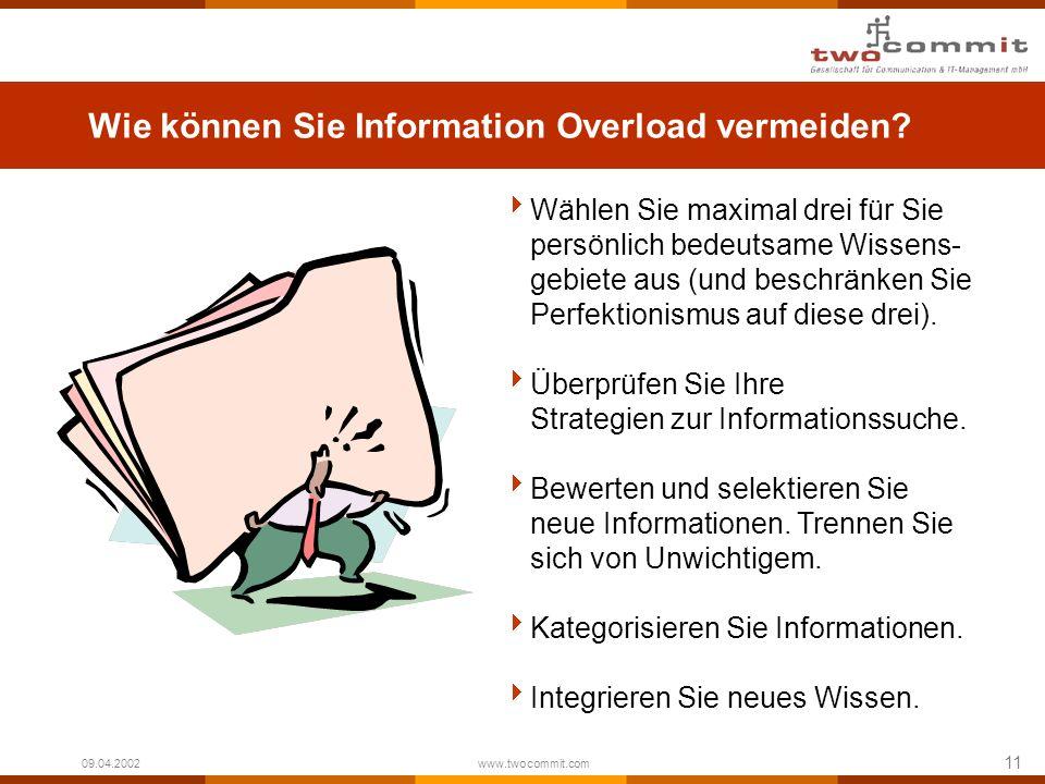 Wie können Sie Information Overload vermeiden