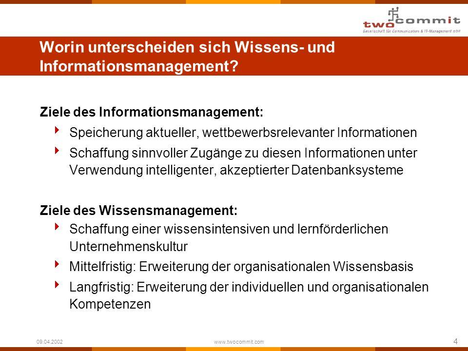 Worin unterscheiden sich Wissens- und Informationsmanagement