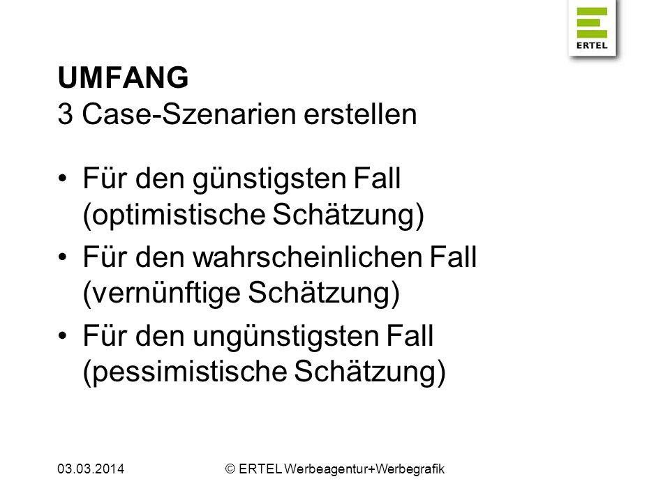UMFANG 3 Case-Szenarien erstellen