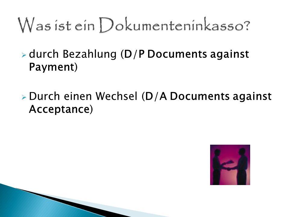 Was ist ein Dokumenteninkasso