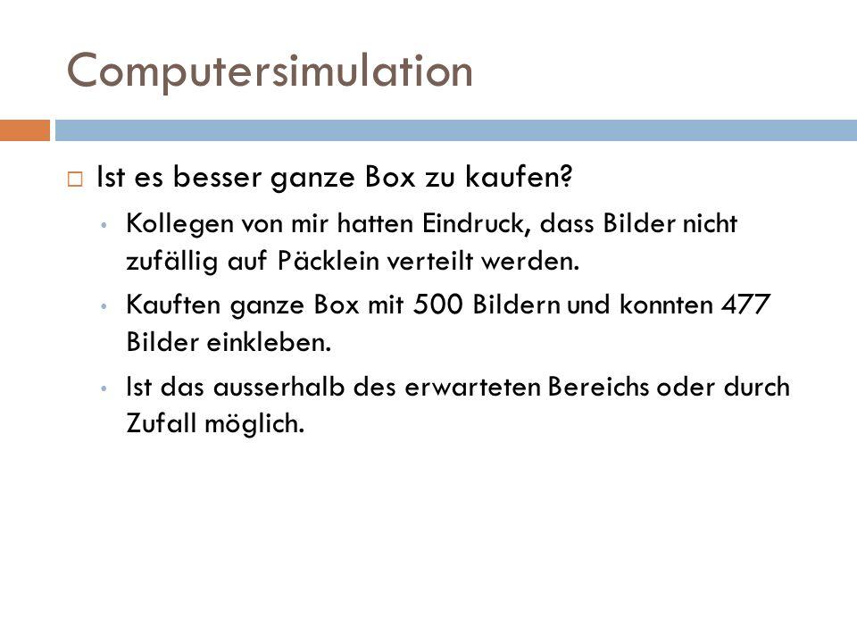 Computersimulation Ist es besser ganze Box zu kaufen