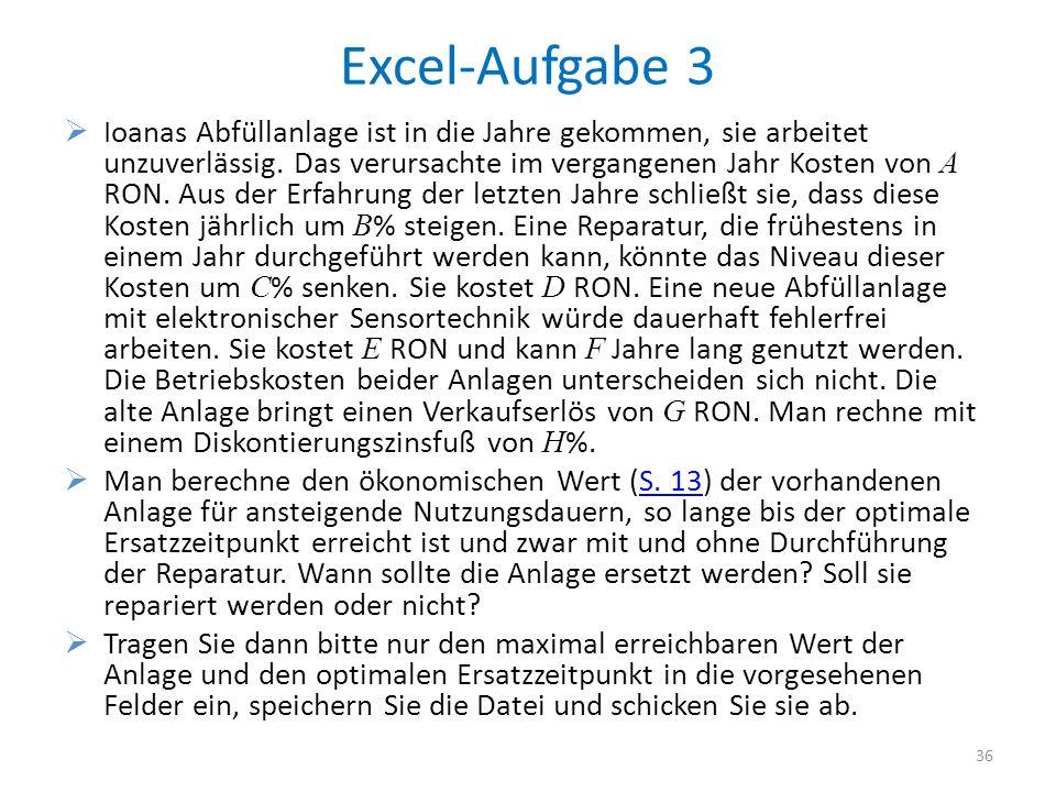 Excel-Aufgabe 3