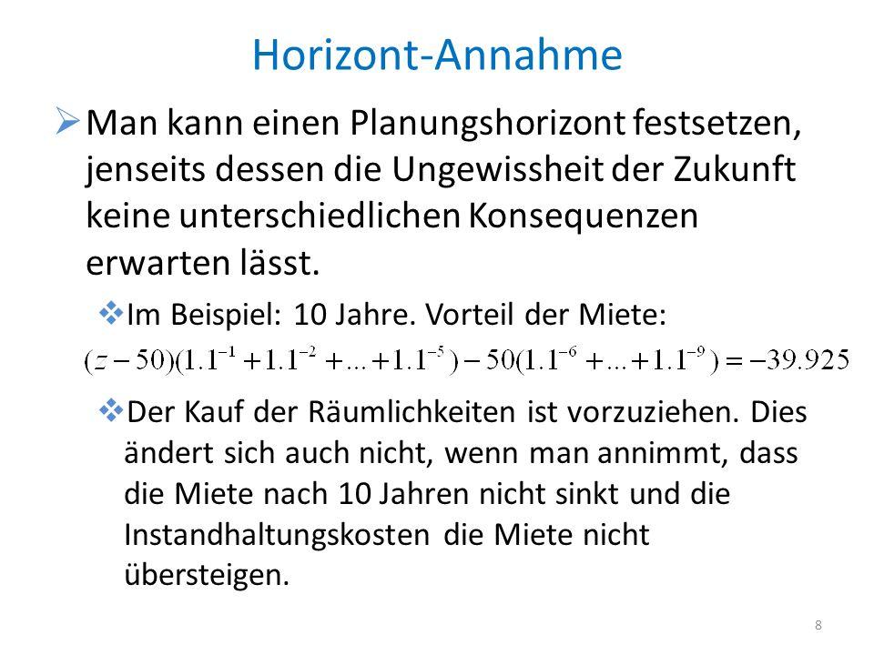Horizont-Annahme