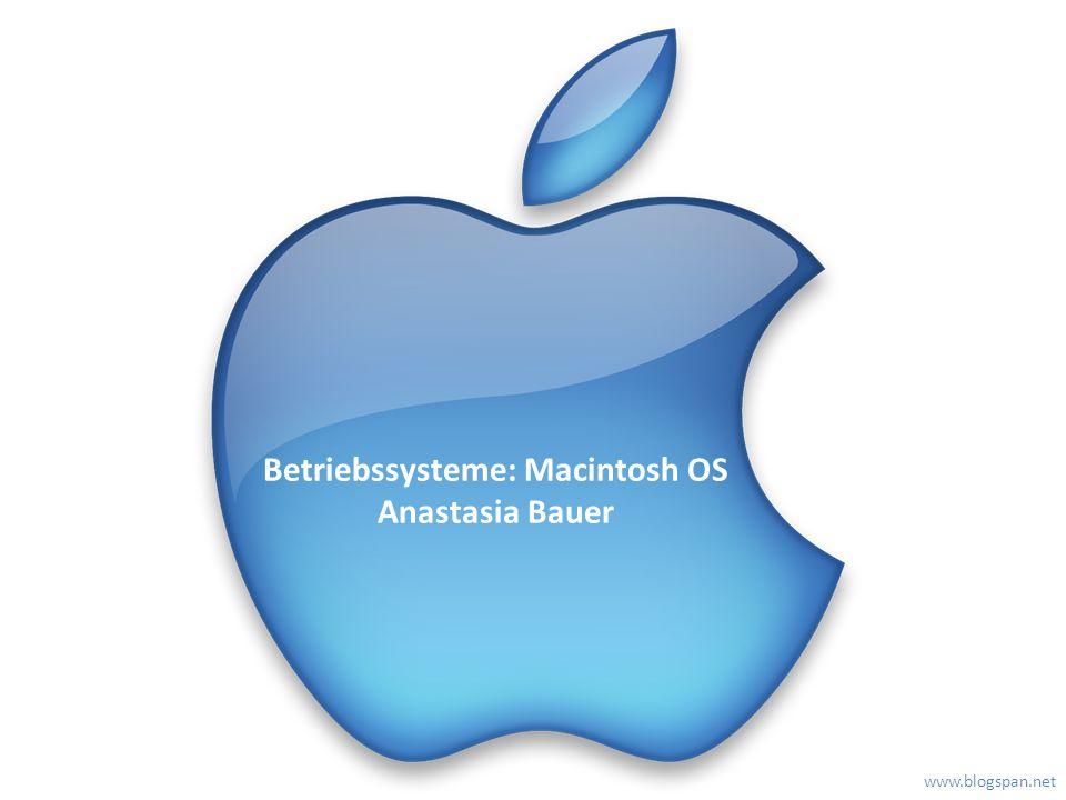 Betriebssysteme: Macintosh OS