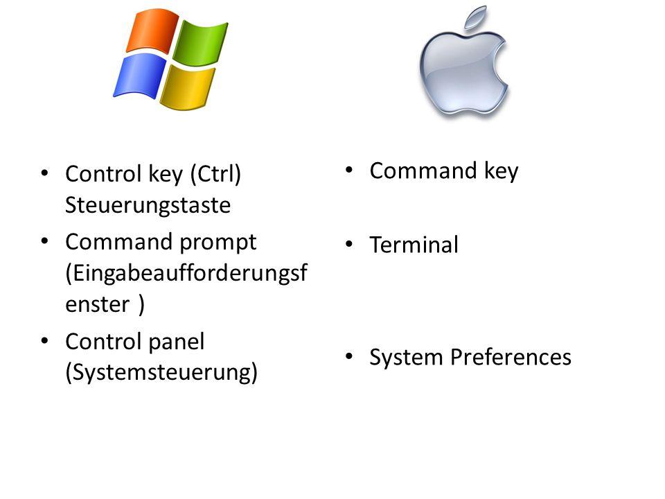 Control key (Ctrl) Steuerungstaste
