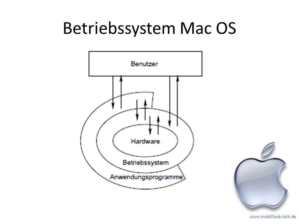 Betriebssystem Mac OS www.mobilfunk-talk.de
