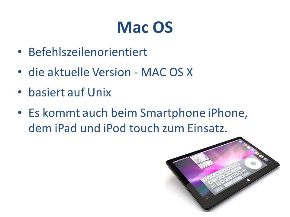 Mac OS Befehlszeilenorientiert die aktuelle Version - MAC OS X