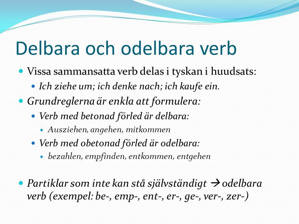 Delbara och odelbara verb