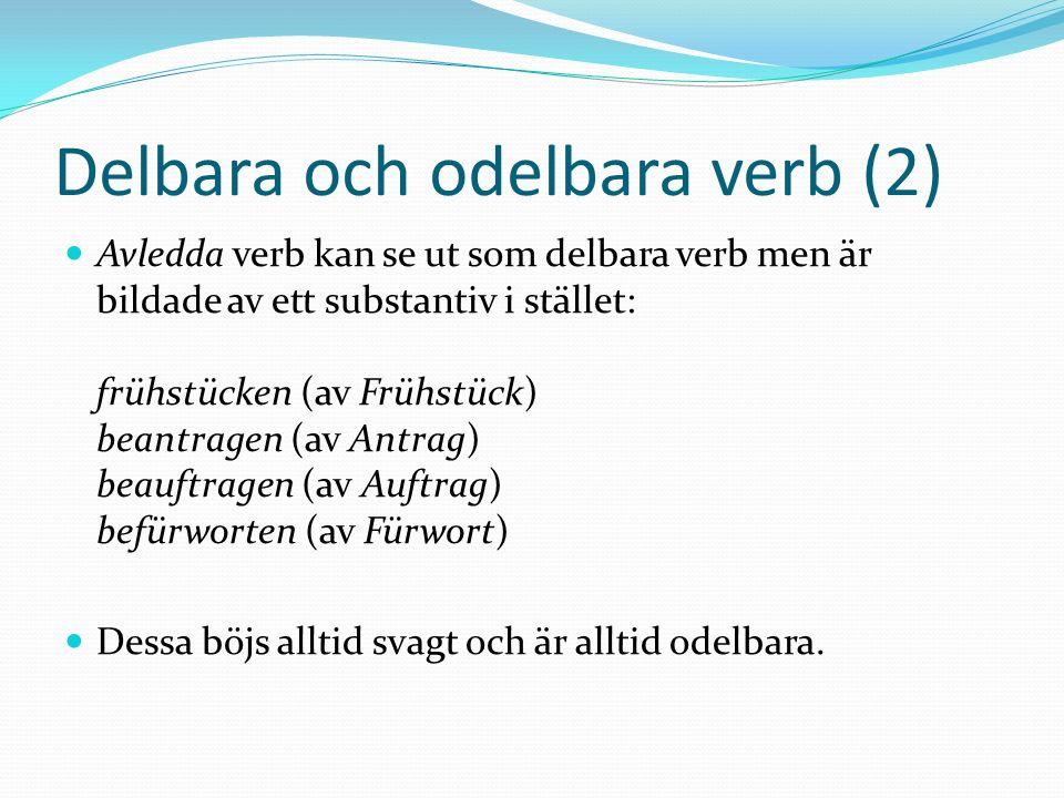 Delbara och odelbara verb (2)