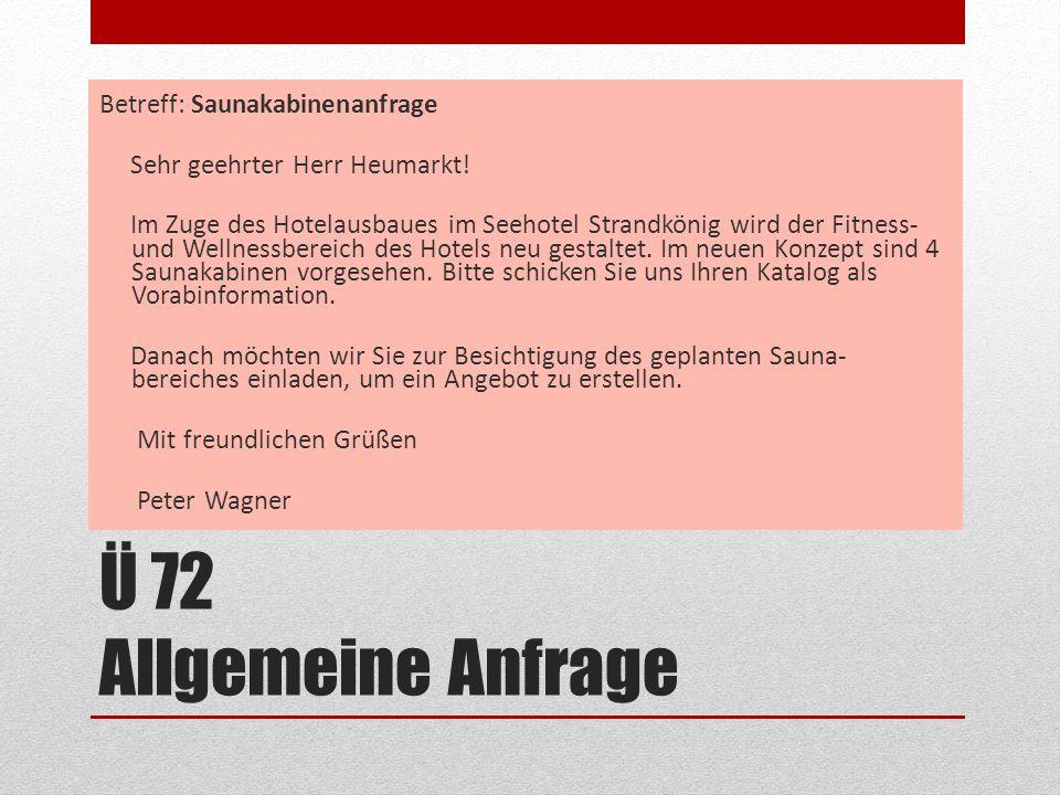 Betreff: Saunakabinenanfrage Sehr geehrter Herr Heumarkt