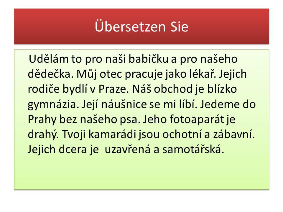 Übersetzen Sie