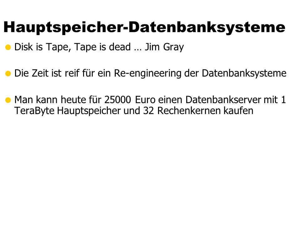 Hauptspeicher-Datenbanksysteme