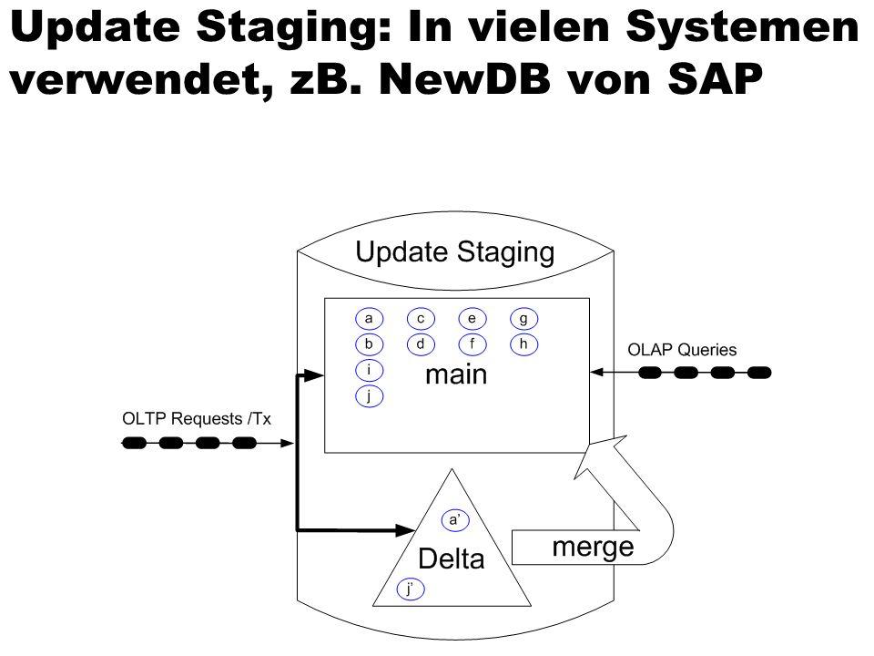 Update Staging: In vielen Systemen verwendet, zB. NewDB von SAP