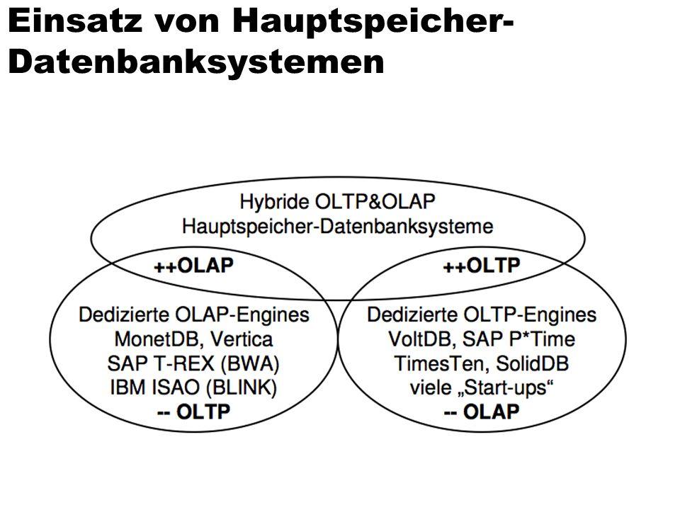 Einsatz von Hauptspeicher-Datenbanksystemen