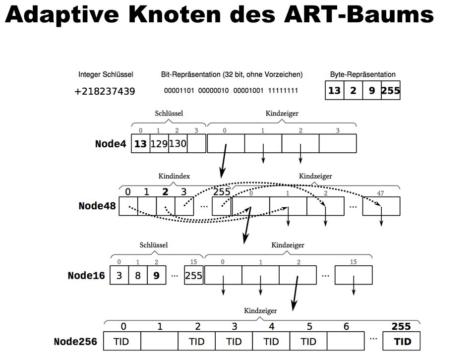 Adaptive Knoten des ART-Baums