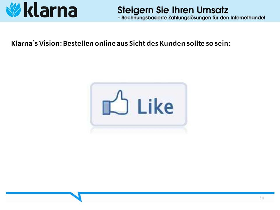 Klarna´s Vision: Bestellen online aus Sicht des Kunden sollte so sein: