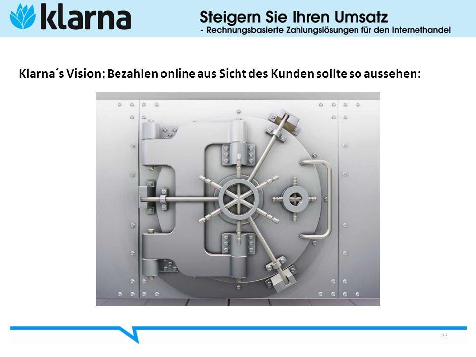 Klarna´s Vision: Bezahlen online aus Sicht des Kunden sollte so aussehen: