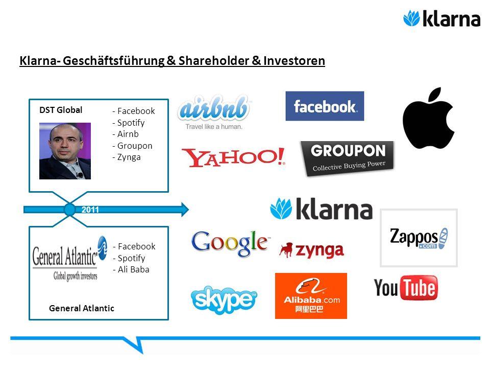 Klarna- Geschäftsführung & Shareholder & Investoren