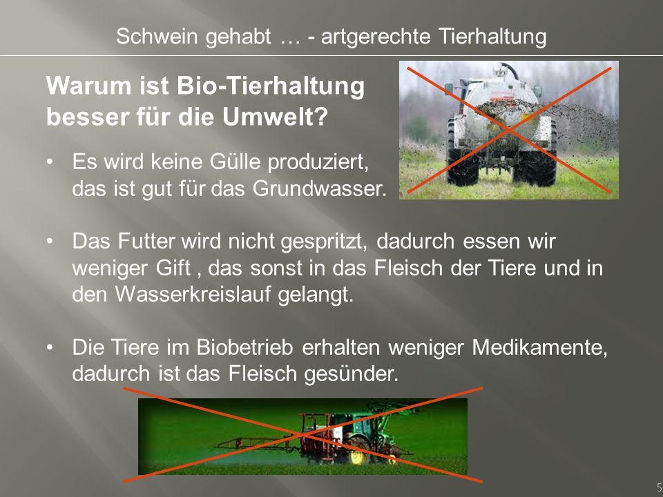 Warum ist Bio-Tierhaltung besser für die Umwelt