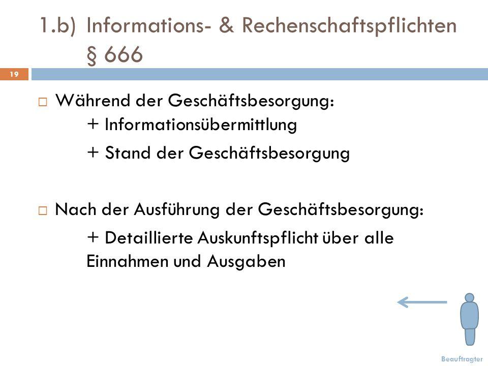 1.b) Informations- & Rechenschaftspflichten § 666