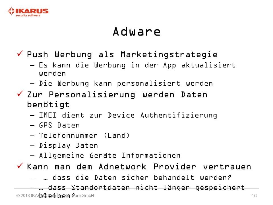 Adware Push Werbung als Marketingstrategie