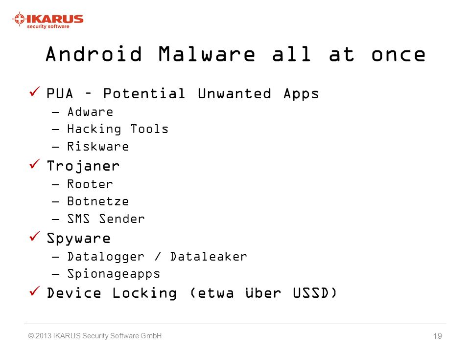 Android Malware all at once