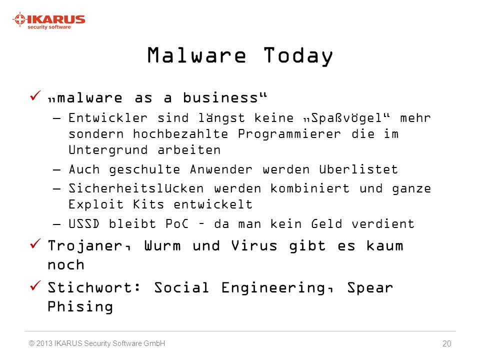 "Malware Today ""malware as a business"