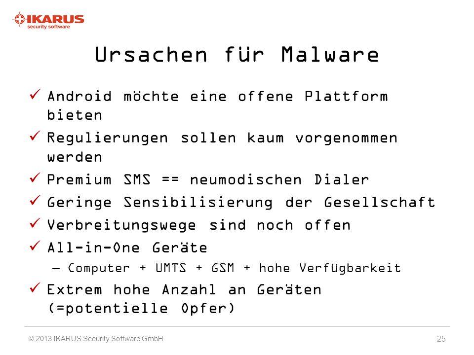 Ursachen für Malware Android möchte eine offene Plattform bieten