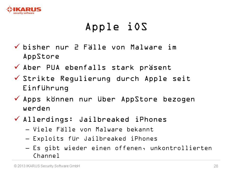 Apple iOS bisher nur 2 Fälle von Malware im AppStore