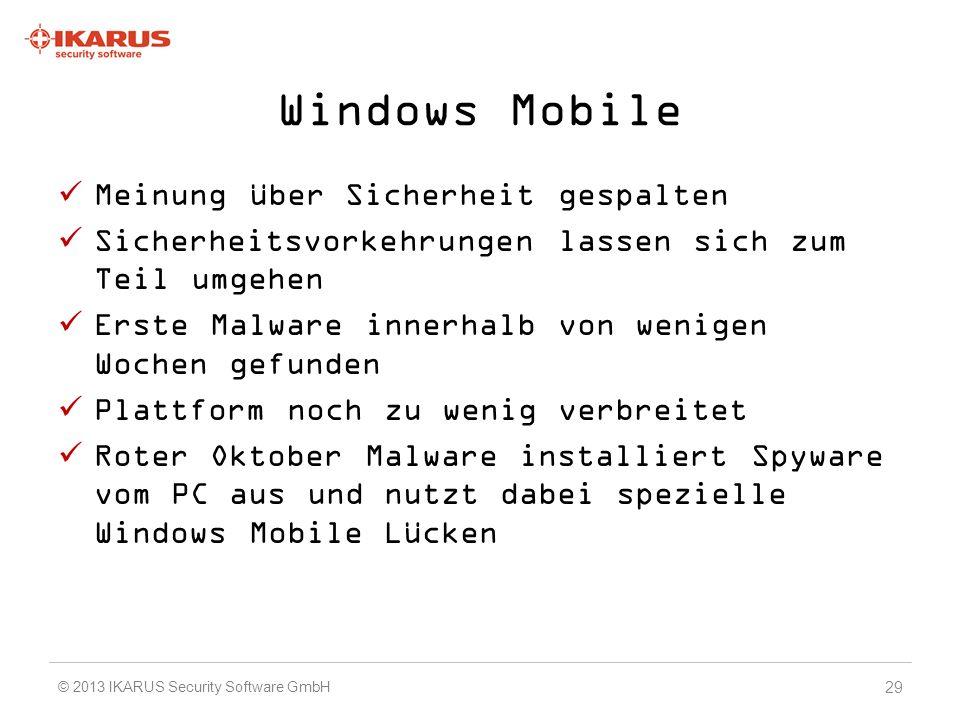 Windows Mobile Meinung über Sicherheit gespalten