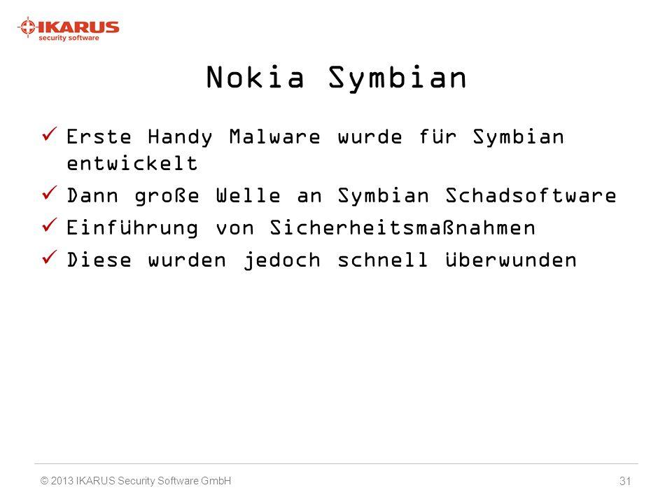 Nokia Symbian Erste Handy Malware wurde für Symbian entwickelt